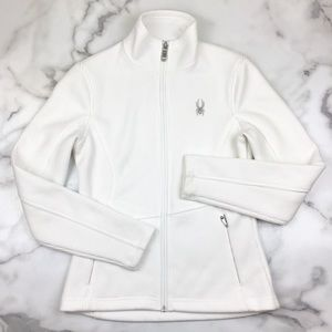 Spyder White Core Sweater Full Zip Up Jacket